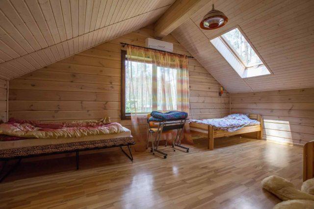 Wooden attic redesign
